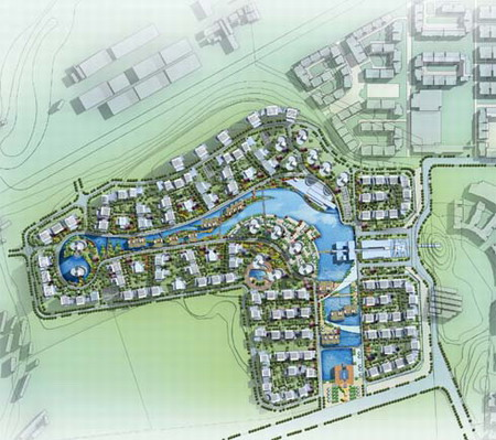 """上海市""""翠谷藍溪""""居住小區規劃設計"""