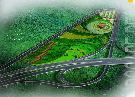 茶园高速入口景观方案设计
