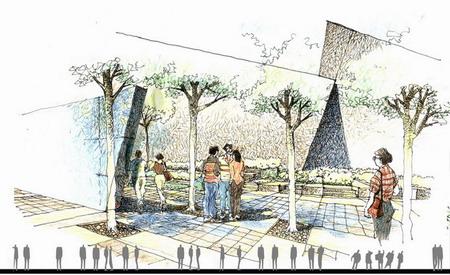 重庆通信学院双拥大道路段景观设计-园林景观篇-案例