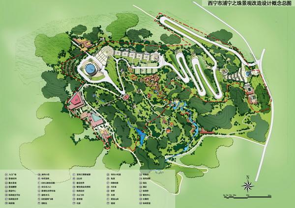 浦宁之珠 青海西宁地标景观规划设计