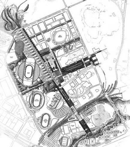 2000年悉尼奥运会公共区域景观设计平面图