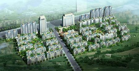 阳光春天居住小区景观设计占地11公顷,总建筑面积约30万平方米,是住宅