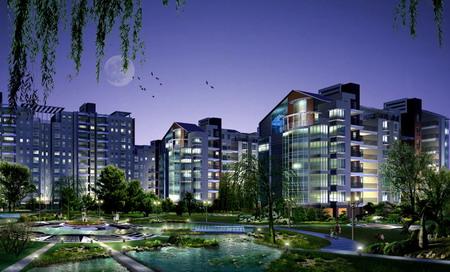 上海阳光春天居住小区景观设计